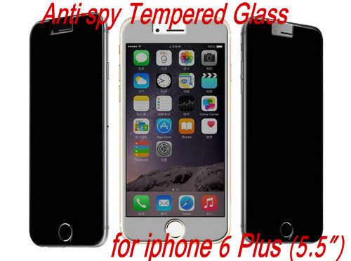 50pcs Anti-spy Explosion Proof LCD Clear Premium Tempered Glass Screen Protector Protective Film Guard For iPhone 6 Plus 5.5
