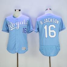2016 Mens Flexbase Alex Gordon 16 Bo Jackson blue jersey Stitched Throwback baseball Jerseys(China (Mainland))
