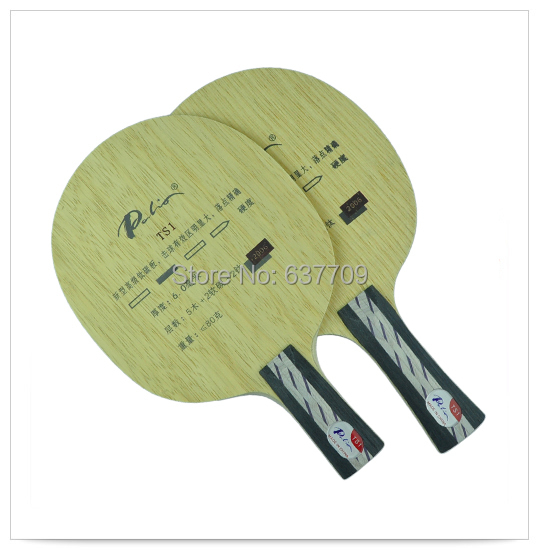 Original Palio TS1 (TS 1, TS-1) 5wood+2soft carbon+2titanium table tennis blade for all-round player new Ti-carbon blade(China (Mainland))