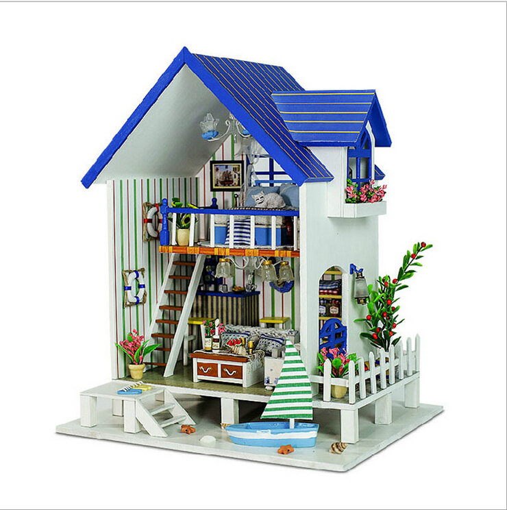 Harbor Venice DIY 3D Household Doll Wooden Dollhouse Miniatures LED Furniture Kit Light Music Gift FPP - Home and Garden store