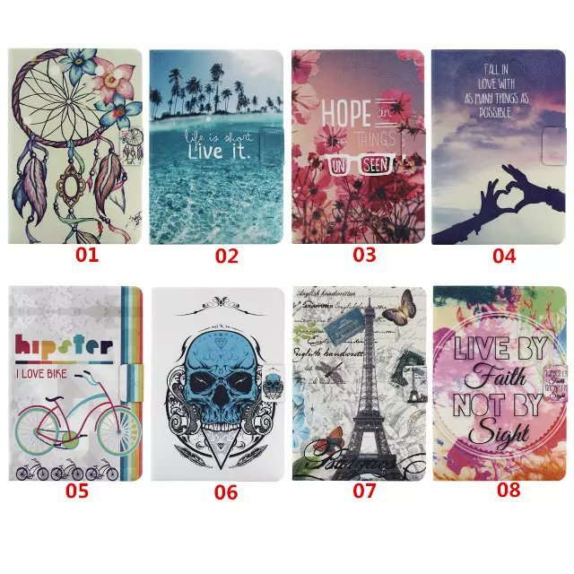 2015 New Tower Skull Generic PU Flip Leather Case Smart Cover case For New iPad mini 1 2 3 Case Tablet Case With Stand,HB055(China (Mainland))