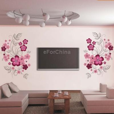 Diy fashion self adhesive pvc removable tv wall stickers for Adhesive decoration