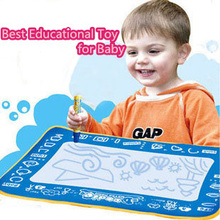 45*30CM Kids Water Drawing Painting Writing Mat Board & Magic Pen Educational Toys for Kids(China (Mainland))