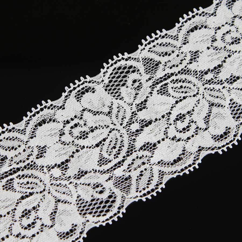 Floral Flower Embroidered Lace Trim Stretch Lace Trim Ribbon Sewing Dress Skirt Handicrafts Wedding Decoration WX0082(China (Mainland))