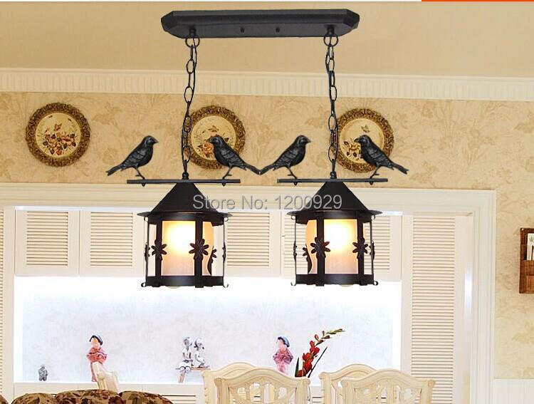 1Piece Free Shipping European Creative Vintage Iron Brids Cage Counrty Pendant Light for Bar/Home Decoration PLL-306(China (Mainland))
