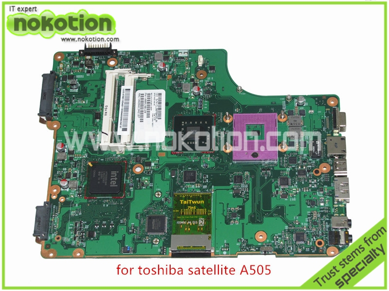 laptop motherboard for toshiba satellite A500 A505 V000198120 6050A2323101-MB-A01 DDR2<br>