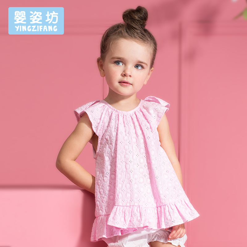 2016 New Summer Toddler Baby Girls Casual Simple Cotton Soft Blouse Tops Dress(China (Mainland))