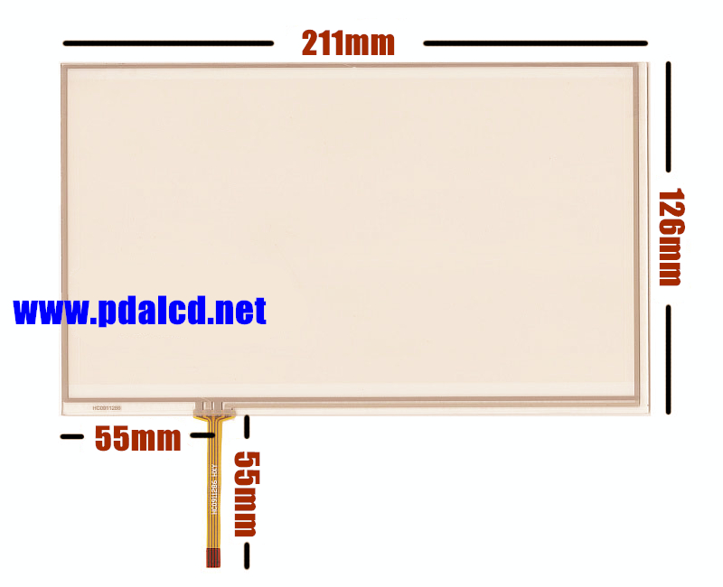 10pcs/lot New 9-inch 211mm*126mm Touch screen panels for HSD090IDW1, AT090TN10 12, Car headrest, Touch Screen Digitizer Panel(China (Mainland))