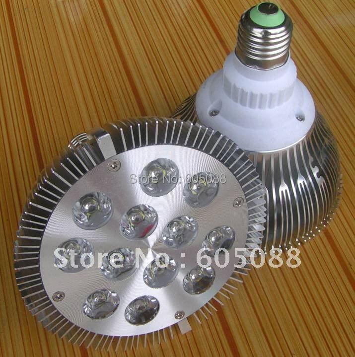 E27 12w led par38 spotlight bulb 12x1w Epistar chips white led energy saving lamp AC85-265v 1200lm 6pcs/lot DHL free shipping(China (Mainland))