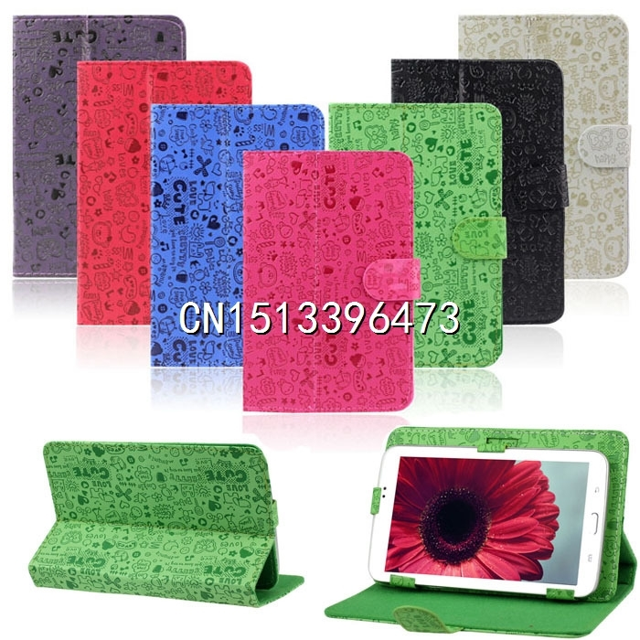 2015 Hot Sale New 7 inch Universal Leather Stand Case Cover For Android Tablet PC Wholesale Free Shipping(China (Mainland))