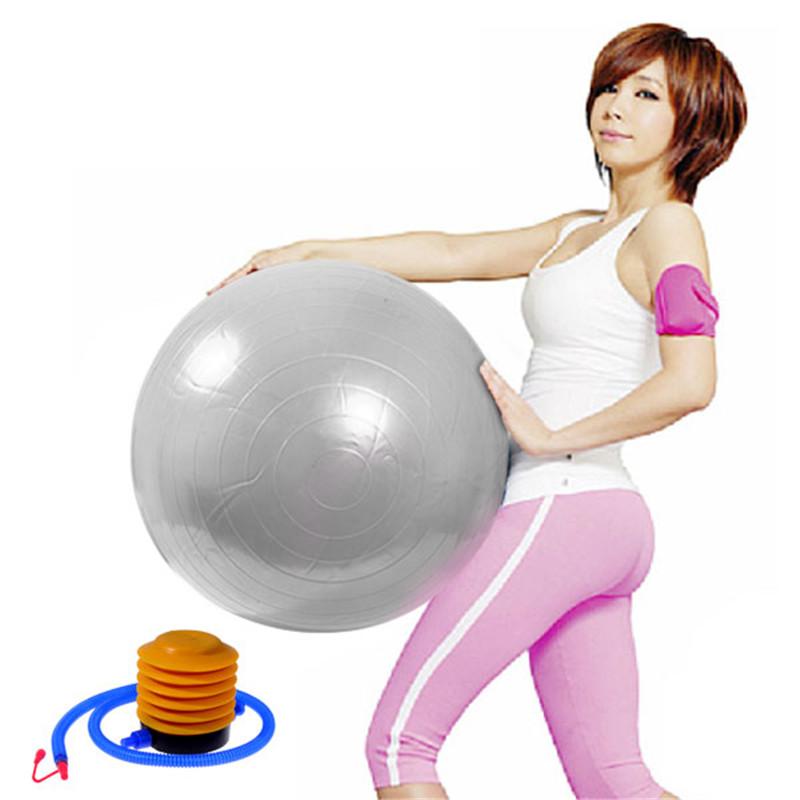 Hot Sale Grey Blue Fitness Exercise Yoga Ball Swiss Gym Fit Yoga Core Ball 55CM Abdominal Back leg Workout(China (Mainland))
