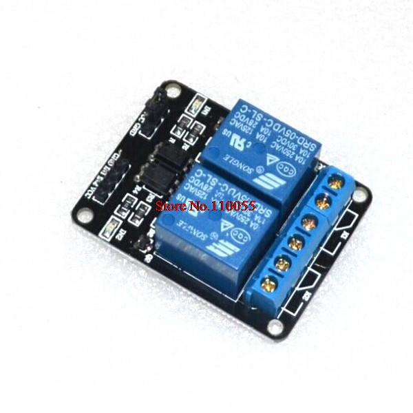 10pcs/lot 2-channel New 2 channel relay module relay expansion board 5V low level triggered 2-way relay module for arduino(China (Mainland))