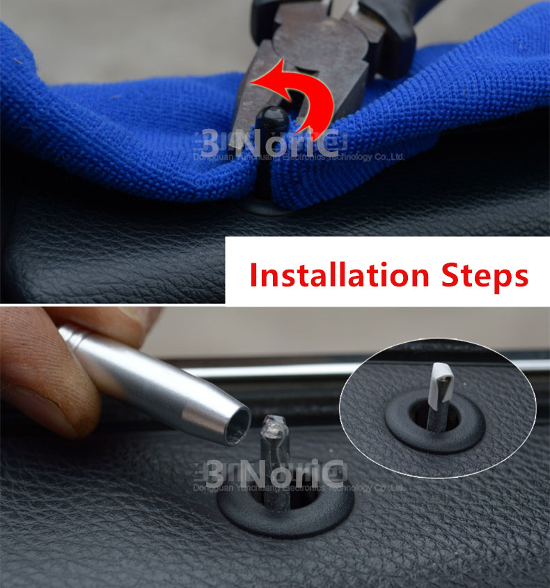 Car Door Lift Lid Trim Strip Interior Accessories 4pcs Door Bolt Decoration Frame Sticker  For BMW 5 Series E60 2006-10  (3)