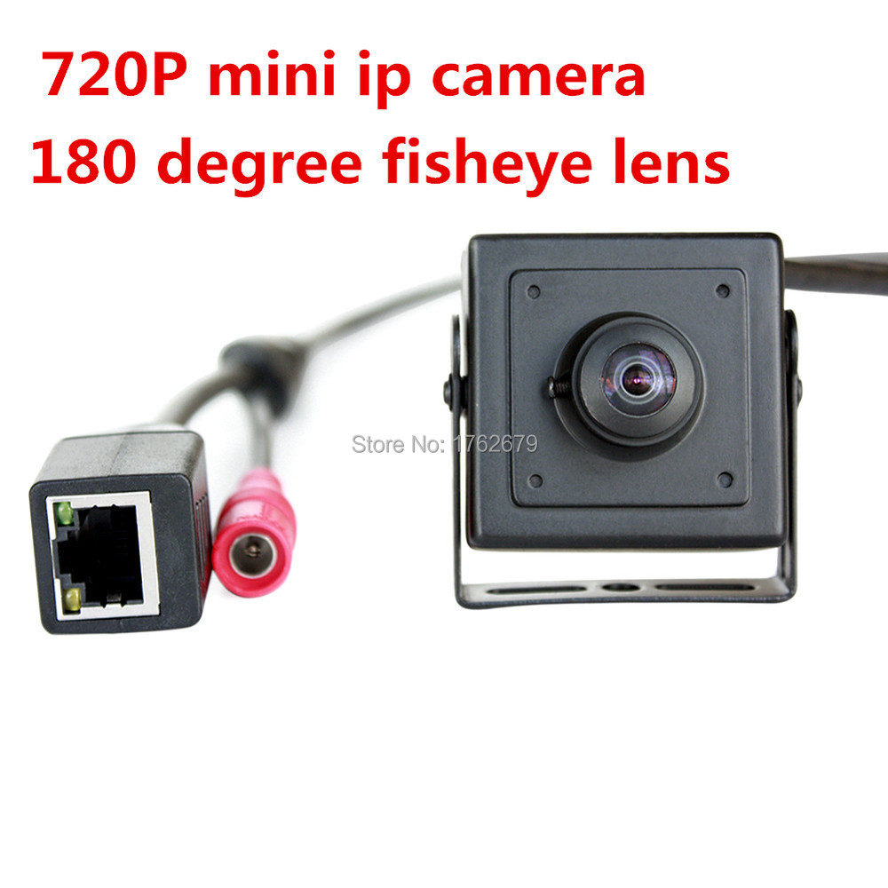 New Wide angle ip camera H.264 onvif p2p 180 degree fisheye lens mini ip camera poe 720p hd for indoor security
