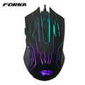 6 Buttons 3200DPI Silence Click USB Wired Gaming Mouse Gamer Opitical Ergonomics Computer Mice For