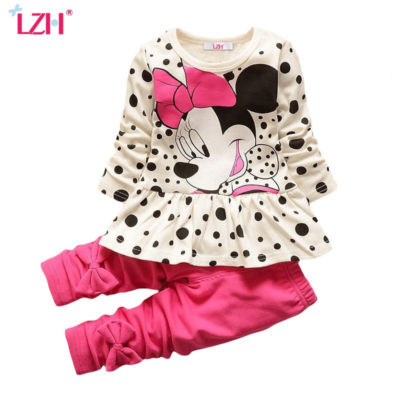 LZH Children Clothes 2017 Autumn Winter Kids Girls Clothes Set T-shirt+Pant Outfits Girls Sport Suit Toddler Girls Clothing Sets(China (Mainland))