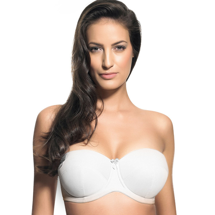 Bride invisible underwear broadened slip-resistant bar no shoulder tape cup plus size large cup bra underwear 42H 42F 38G 40E(China (Mainland))