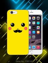 1pcs Cute Pocket Monster Pikachu hard white Skin Case for iphone6 (4.7inch) and iphone6 plus(5.5inch) Retail