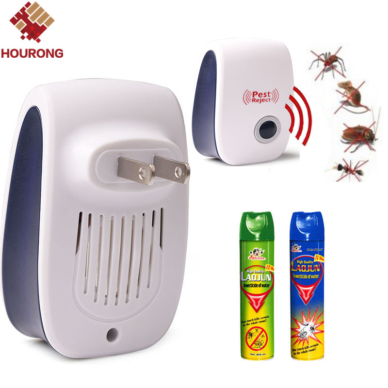 1 Pc Effective Safe Ultrasonic Electronic USA Plug Pest Repeller Insect Rodents Mosquitoes Rats Cockroach Control Pest Reject(China (Mainland))