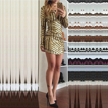 eSale Fashion Nightclub Dance Clothing Sexy Deep V-neck Long Sleeve Sequined Mini Party Prom Club Dress for Women PL4443