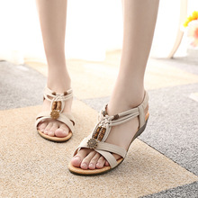 2016 women sandals Summer Fashion White Shoes Flat Heel Flip Gladiator Brief Herringbone Flip-flop Sandals Flat X0252(China (Mainland))