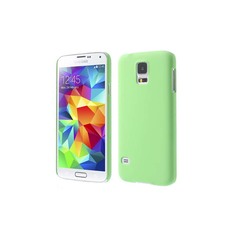 for Galaxy S 5 G900 Hard Cases Green Rubberized PC Hard Shell for Samsung Galaxy S5 G900 GS 5(China (Mainland))
