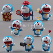 Anime Cartoon Cute Doraemon Mini PVC Figure Model Toys Dolls 8pcs/set Child Toys Christmas Gifts DRFG031