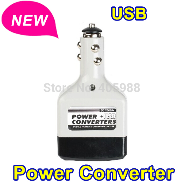 New arrival Car inverter 12 v to 220 v Car Power Inverter Converter Adapter Adaptor Car Charge with USB car inverter(China (Mainland))