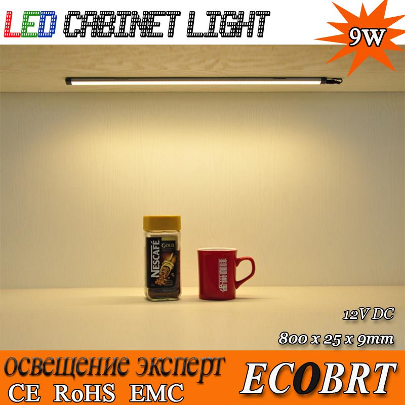 Epistar 80cm long 9W 12v led bulbs tubes, kitchen under cabinet led lighting lamps smd3528 linear lights 6pcs/lot(China (Mainland))