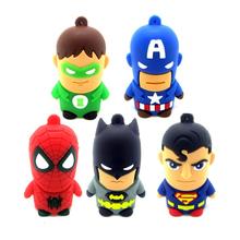 100% real capacity usb flash drive minion super hero man batman U disk  Memory Pen Drive Stick 4GB 8GB 16GB 32GB 64GB pendrive(China (Mainland))