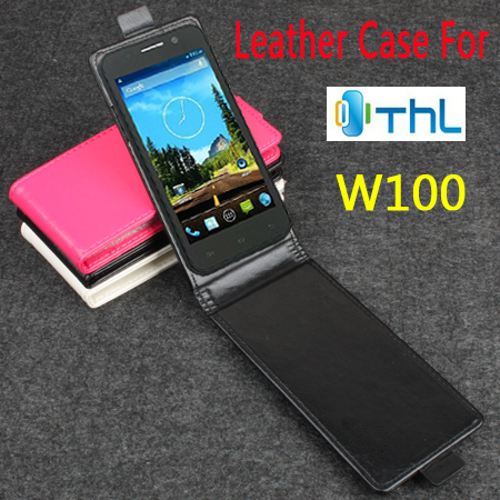 BW High Quality New Original For THL W100 Leather Case Flip Cover For THL W 100 Case Phone Cover In Stock Free Shipping(China (Mainland))