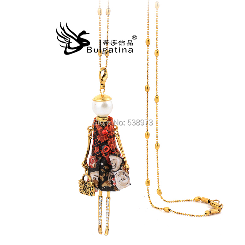 Fashion Jewelry Chains Necklace Alloy Necklaces Doll pendant Sweater pendants - Disha Findings store