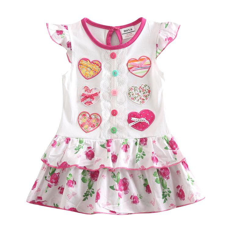 5pcs/lot baby girl dress long sleeve toddler girl dress for girl summer party princess dress girl clothes kids children clothing