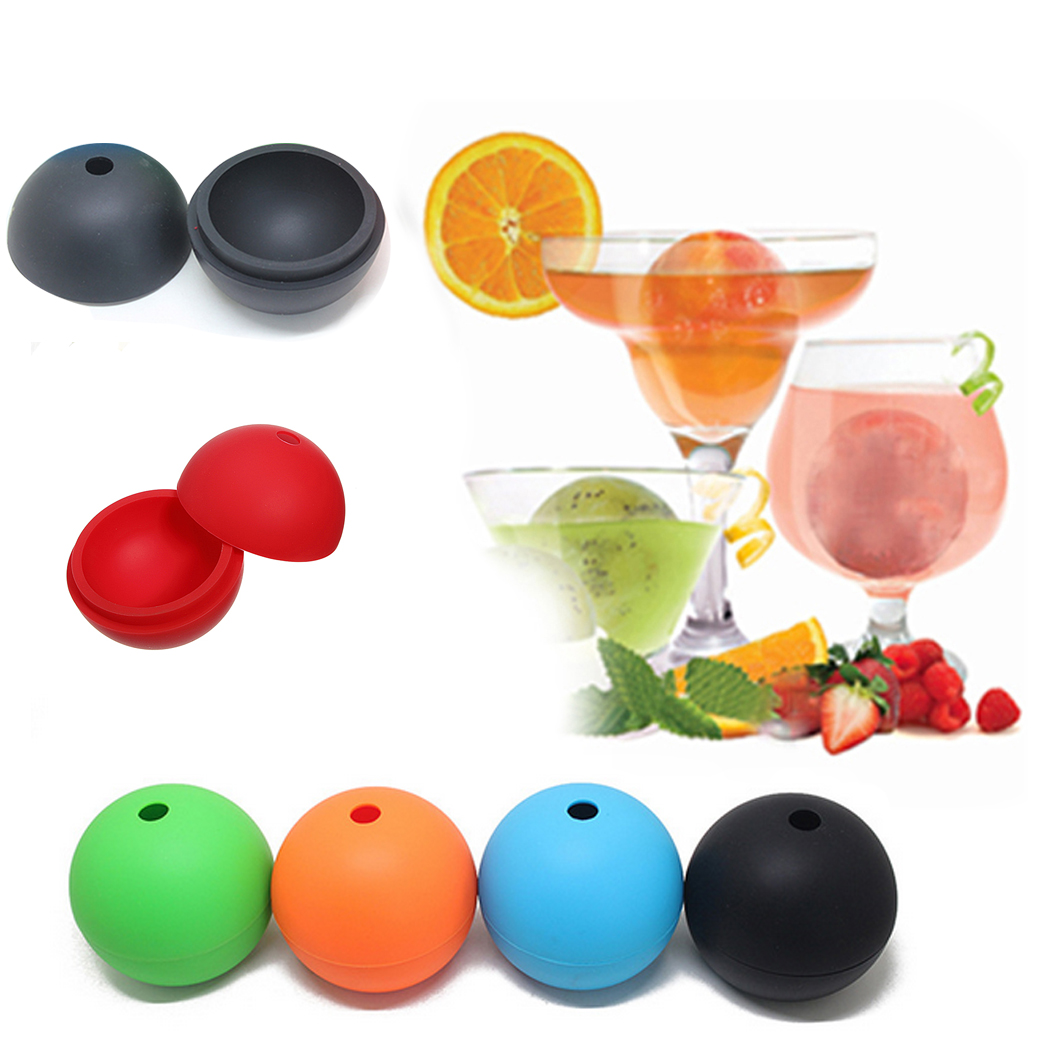 New 2.36 Inch Big Round Large Orbs Mould Ice Ball Silicone Spherical Mold Cube Tray Wholesale Hot Sale 1009(China (Mainland))