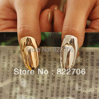 Punk Cool Fail Nail Rings Simple Sets Jewellery Finger - Lincy Fashion store