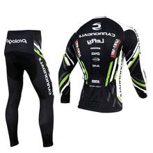 CANNOND GARMIN PRO TEAM ROPA CICLISMO SPRING SUMMER LONG SLEEVE CYCLING JERSEY BIKE CLOTHES+ PANTS WITH GEL PAD(China (Mainland))