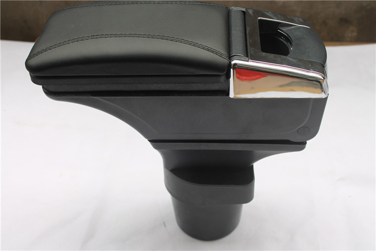 ABS plastic and PU leather Armrest Console Box for KIA RIO 2005 2006 2007 2008 2009 2010 2011 Low-equiped model ONLY(China (Mainland))