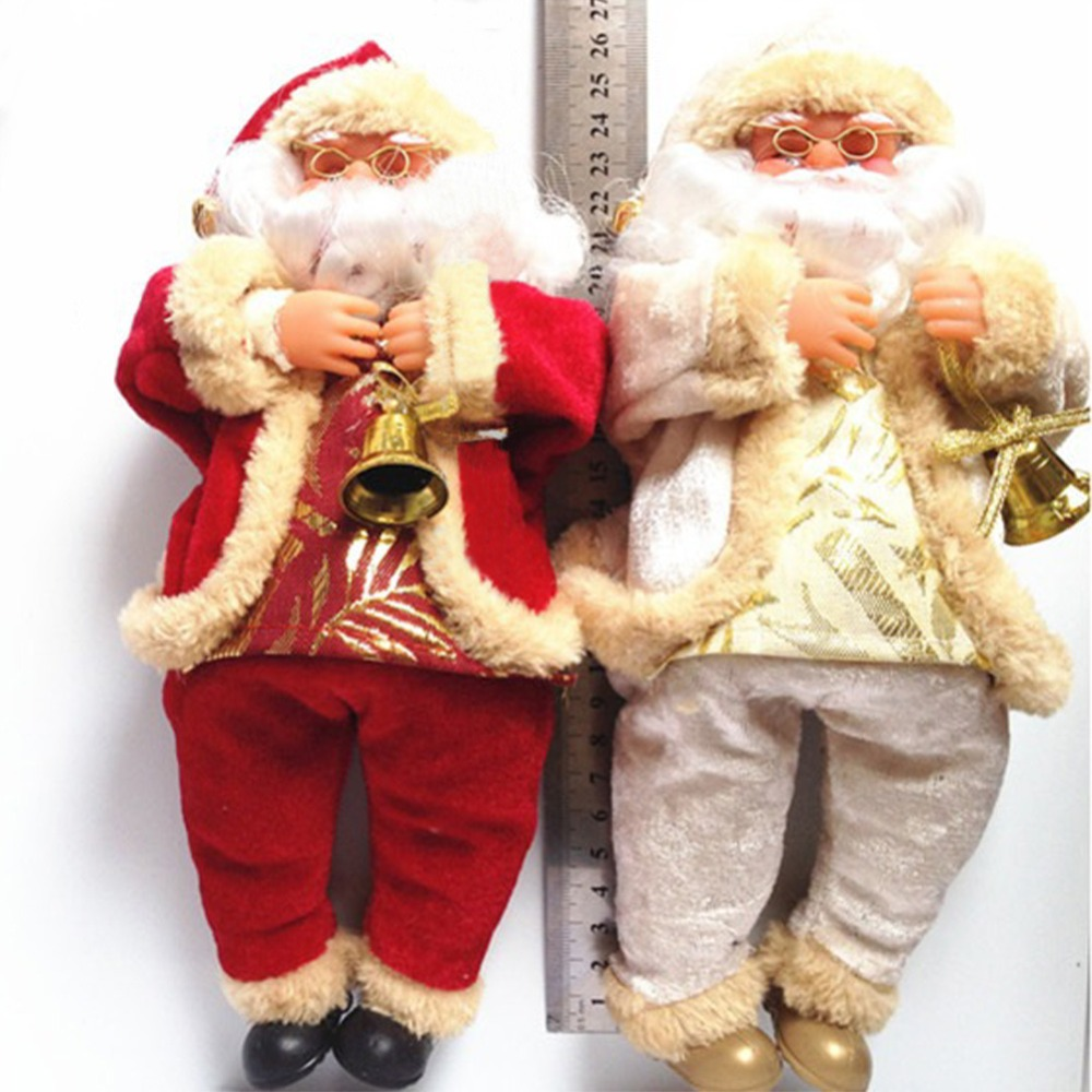 New Arrival Christmas Decorations Santa Claus Toy Christmas Gift Doll Flannel Toys Xmas Decor Snowman Party Toys santa claus(China (Mainland))