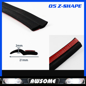 "236"" 600cm Z Type BLACK Edge Trim Seal Strip Rubber Car Auto Truck Door Noise Control Protector"