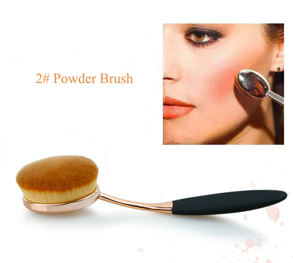 10pcs oval brush set rose gold Oval Makeup Brush set professional toothbrush shape cosmetic brush  makeup tools for beauty
