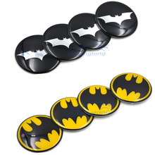 Buy 4pcs/lot 60mm Batman Black Alloy Car Wheel Center Hub Caps Sticker Emblemn Auto Modified BMW Nissan Opel MG for $5.57 in AliExpress store