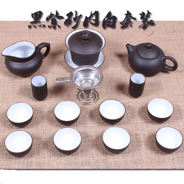 Elegant Chinese Ceramic cups teapot yixing purple clay teapot the tea set kung fu tea pot