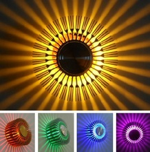 Free shipping conceal install New LED Modern sunflower led wall Light lamp 1W Aisle Bedroom Corridor Porch Background decoration(China (Mainland))