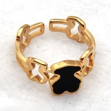 2015 Lovely Bear Ring Brand Love New High Quality Enamel Rings Jewelry For Women Girl
