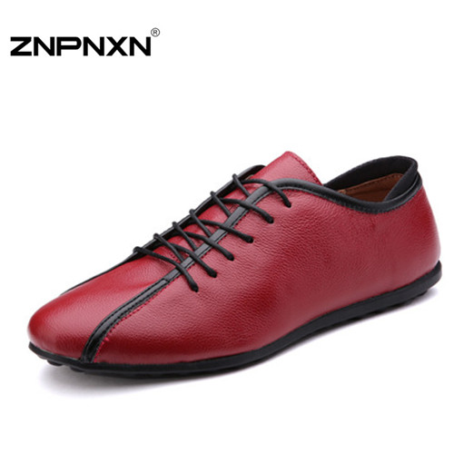 New 2015 Genuine Leather Men Sneakers Spring and Autumn male casual sh