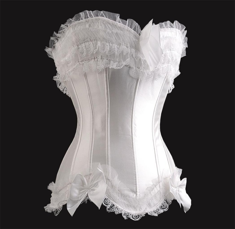 Corset sexy costumes wedding dress lace of gothic steel for Sexy corset wedding dress