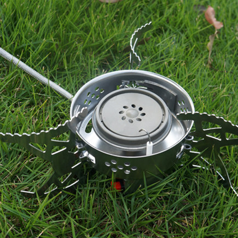 Camping Stove Split Gas Furnace Aluminum And Stainless Steel Portable Outdoor Folding Stove Camping &Hiking Equipment PA15121722