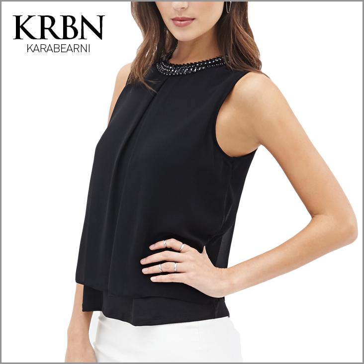 women tops summer women clothes 2015 women blouses Casual plus size women shirts ladies Sleeveless o-neck black shirt 15164-28(China (Mainland))