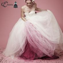 11 Layers Gradient Long Tulle Skirt  Floor Length Princess Skirts Adult Tutu Mesh Skirt Plus Size Wedding Celebrity Party