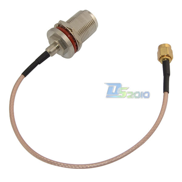 High Quality20cm 8in N female nut bulkhead to SMA male plug Coax Jumper Pigtail Cable RG316(China (Mainland))